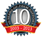 10 years of PBeM support : 2002 - 2013